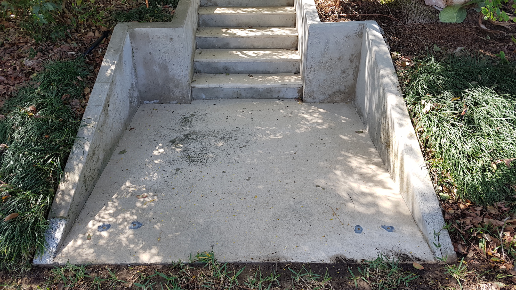 Concrete & Stairs - still some moss deep in the concrete